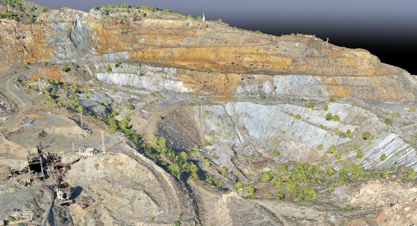 uso de drones en construcción y minería nube de puntos